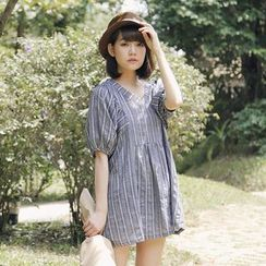 Tokyo Fashion - Patterned V-neck Tunic