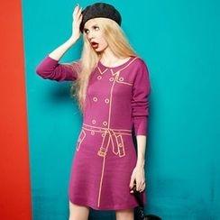 ELF SACK - Long-Sleeve Jacquard Dress