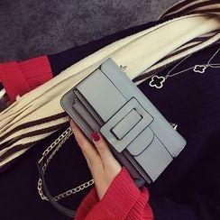 薇薇 - 链条带饰扣单肩包