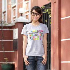 Porspor - 彩點印花 T 恤