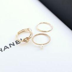 DANI LOVE - Set of 3: Metallic Rings