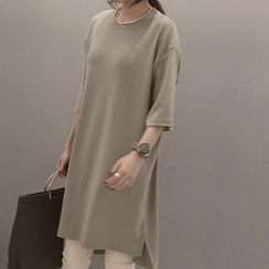 NANING9 - Elbow-Sleeve Pullover Dress