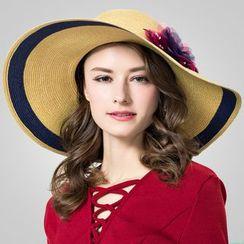 BADA - 花朵大沿草帽