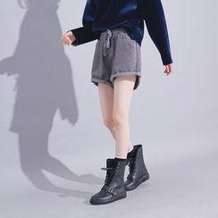 Sonne - Drawstring Corduroy Shorts