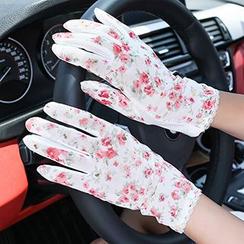 Kalamate - Floral Print Driving Gloves