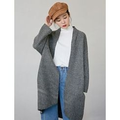 FROMBEGINNING - Wool Blend Coat with Belt