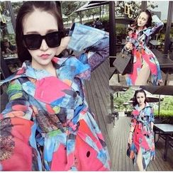 Moonshine - Print Double Breasted Trench Coat