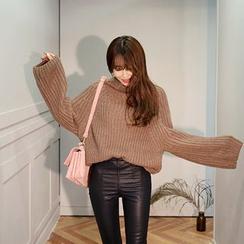 DABAGIRL - Mock-Neck Raglan-Sleeve Sweater