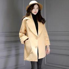 Romantica - Plain Buttoned Coat