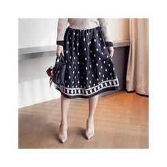 MASoeur - Embroidered A-Line Skirt