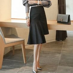 Yilda - Denim A-Line Skirt