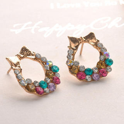 Fit-to-Kill - Colorful Diamond Earrings - Other Color