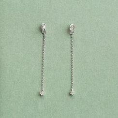 Love Generation - Sterling Silver Threader Earrings