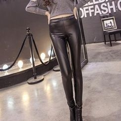 Hazie - Faux Leather Leggings