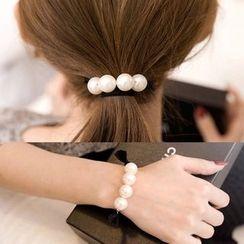 Coolgirl - Faux Pearl Hair Tie