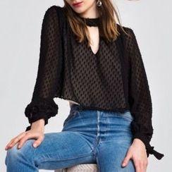 Obel - 镂空长袖衬衫