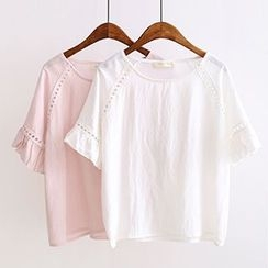 Angel Love - Ruffle Short-Sleeve T-Shirt