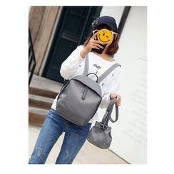 Lunaby - Set: Plain Backpack + Plain Bucket Bag