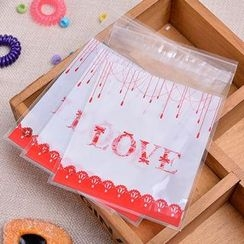Ivyknoll - Lettering Bakery Packing Bag Set (100pcs)