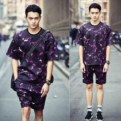 Chuoku - Loose-Fit Printed T-Shirt