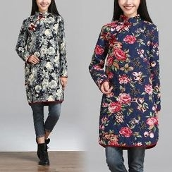 Splashmix - Floral Padded Shift Dress