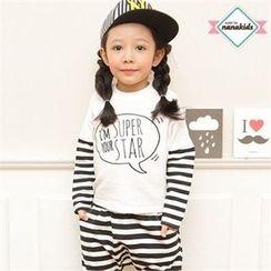 nanakids - Kids Dolman-Sleeve Stripe Lettering T-Shirt