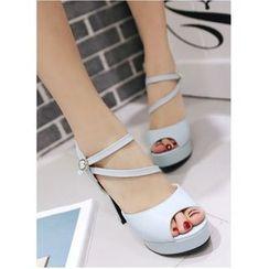 Freesia - Chunky Heel Platform Sandals