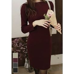MyFiona - Boat-Neck Knit Bodycon Dress
