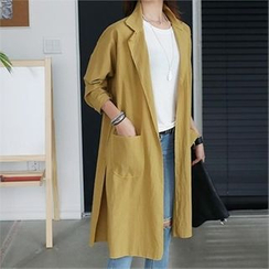 CHICFOX - Raglan-Sleeve Open-Front Coat