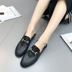 Anran - Faux Leather Loafers