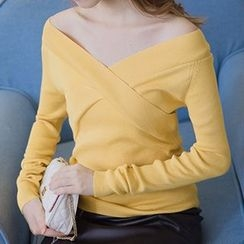 Honey House - Off Shoulder Knit Pullover