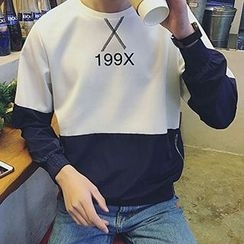 maxhomme - Numbering Color block Pullover