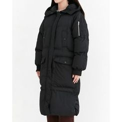 Someday, if - Hooded Zip-Up Long Padded Coat