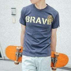 SeventyAge - Lettering Short-Sleeve T-Shirt