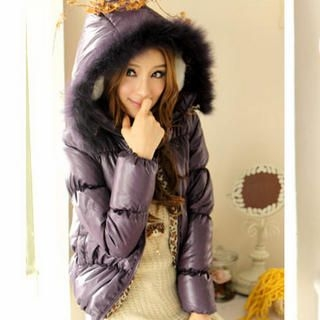 Tokyo Fashion - Faux-Fur-Trim Hooded Down Jacket