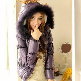 Tokyo Fashion - Faux-Fur-Trim Hooded Down Jacket