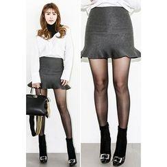 INSTYLEFIT - Ruffle-Hem Mini Skirt