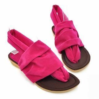 77Queen - Color-Block Thong Sandals