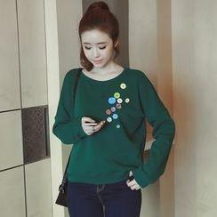 Munai - Buttoned Fleece-Lined Pullover