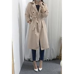 OZNARA - Double-Breasted Trench Coat