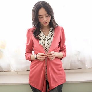 CatWorld - Inset Dotted Blouse Cardigan