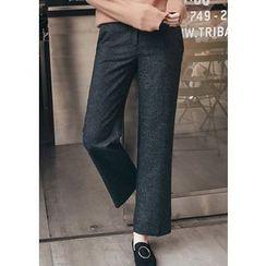 Chlo.D.Manon - Glen-Plaid Straight-Cut Dress Pants