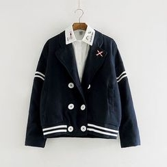 Softies - Double-Breasted Cropped Jacket