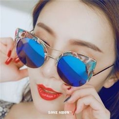 Lose Show - Metal-Accent Sunglass