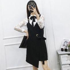 Be Bonita - Set: Lace Shirt + Jumper Dress