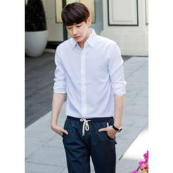 GERIO - Long-Sleeve Plain Shirt