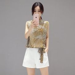 Romantica - Set: Printed Blouse + Shorts