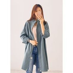 J-ANN - Zip-Up Long Jacket