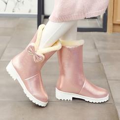 佳美 - 蝴蝶结短筒雪靴