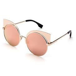 Biu Style - Cat Eye Mirrored Sunglasses